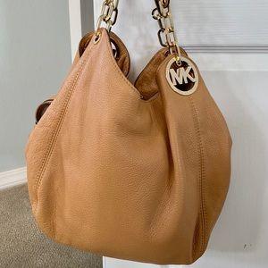 Michael Kors tan shoulder bag